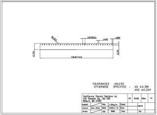 Bonded Fin Heatsink Base 35100B0001-0A
