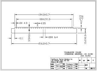 Bonded Fin Heatsink Base 39650B0000-0A