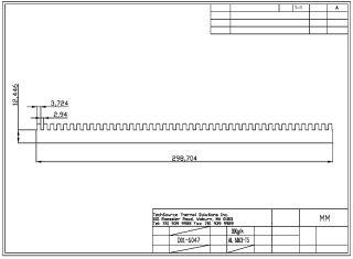 Bonded Fin Heatsink Base 55055B0000-0A
